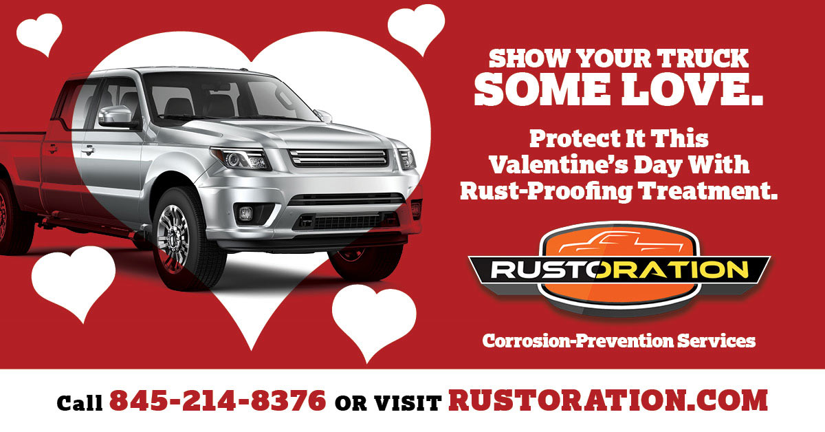 Show your truck some love! Protect it this Valentine's Day with Rust-Proofing Treatment.